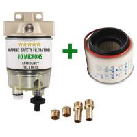Filtre décanteur / séparateur pour moteur hors bord