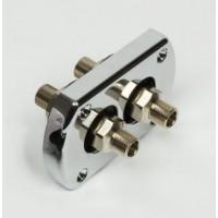 Kit de cloison pour tuyau double avec raccords prémontés