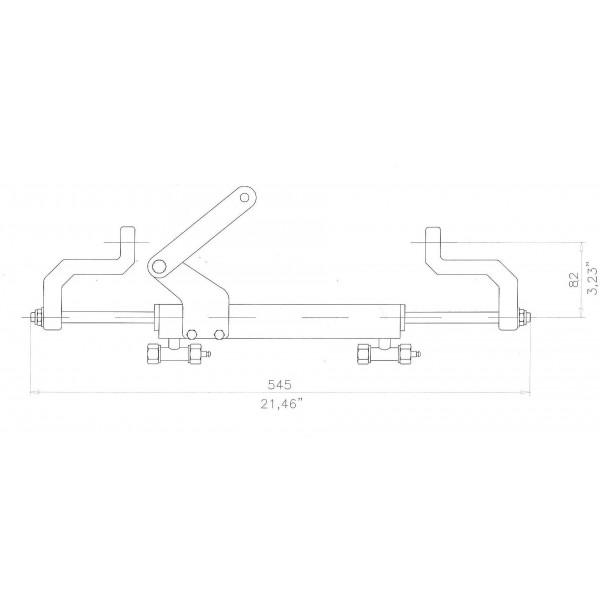 vérin de direction hydraulique Yamaha 30 CV et direction hydraulique Yamaha F30